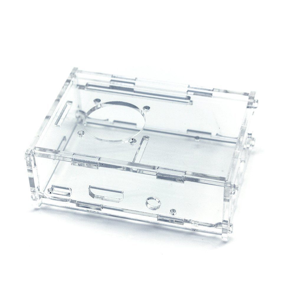 Clear Case With Cooling Fan Cut-Out For Raspberry Pi Model B+