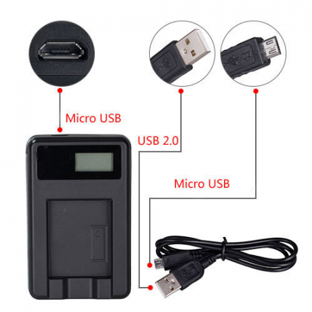 USB Charger for SONY Handycam HDR