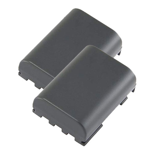 USB Battery Charger and 2 Batteries For Canon MV6iMC Camcorder