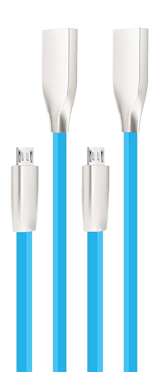 High Grade - Tangle Free Micro USB Cable with Fast Charging For Sony Mobile Phones